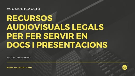 Recursos audiovisuals per a presentacions